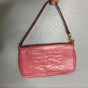 Kate spade pink animal-print leather mini handbag